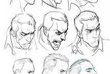 sketching heads