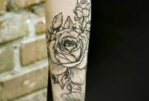 Flower and plant tattoo
