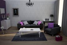 Salon w stylu Glamour / Przedmioty do wyposażenia i urządzenia wnętrza w stylu glamour
