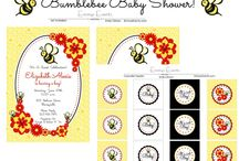 Bumblebee Baby Shower / This super sweet bee themed baby shower is now available in my Etsy shop! Here's some beautiful bee inspiration!!
