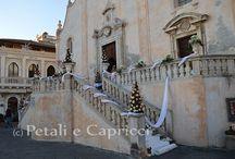 Matrimonio di Natale a taormina / ultimo allestimento del 2014 sotto il periodo natalizio
