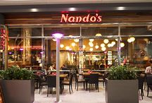{Nando's} / Nando's has something for everyone. From their trademark tasty PERi PERi sauce to their tangy and filling side orders, the menu is a taste explosion that'll guarantee you'll want to come back for more.  Every chicken is grilled to order over an open flame, which also reduces the fat content, while you get to control the flavours of favourite dishes by choosing from an ever-increasing scale of spiciness.