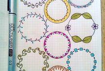 Bullets doodles journals