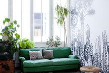 Sofás verdes · Green sofas / Sofás verdes de todos los estilos para poner un toque de color en tu casa
