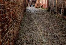 Beautiful alleys, cobblestone streets