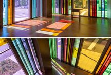Colored Glass Walls
