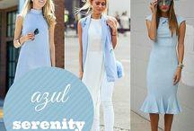 Serenity - a tendência / Tons como Azul Serenity, Rosé Quartz, off-white remetem à serenidade.