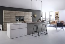 Our pick of the best kitchen furniture designs! / As demand for open-plan living is on the increase, incorporating an island or peninsula remains high on the consumer agenda. On-trend features such as in-frame design and handleless units are also increasingly popular, as are 'floating' worktops' and ambient LED lighting. Select the latest muted, natural or earthy colour schemes and that sleek, contemporary look is easily achieved.