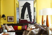 Couches / Decorating with dark brown couches