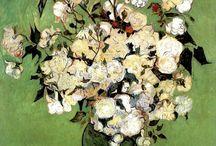 Umenie na plátne -maľované kvety