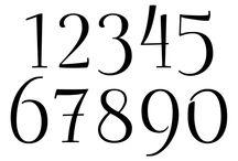 Буквы + Цифры + Шрифты