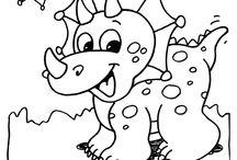 Värityskuvia dinosaurukset