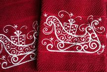 machine embroidered towels