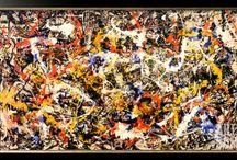 Abstract Expressionism / Abstract Expressionist Paintings by artists Jackson Pollock, Robert Motherwell, Hugh Kappel, Pousette-Dart
