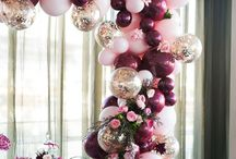 Party Ideas: Balloons Balloons Balloons / Traditionally, balloons on a letterbox signalled to guests that they had arrived at the party. But look how much more balloons have to offer! For more party planning inspiration visit www.imprintables.com.au/details