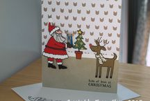 Stampin' Up Holiday Cards! / by Linda Heller - Stamping School