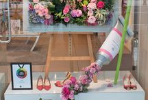 Window displays / Ideas for Harrogate Flower Show 2015 competition stand. Theme: Bakers Shop