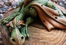 draghi dragon polymerclay fimo / fantasy creatures