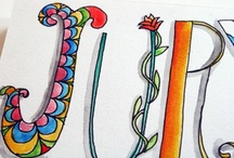Alphabets and Lettering / by Annwn Myers