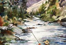 Art - Fishing / by Peggy Bousman