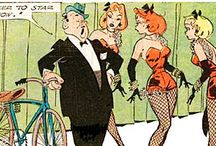 "Don Flowers art / Don Flowers (1908–1968) was an #American #cartoonist best known for his syndicated panel Glamor Girls. Flowers was noted for his fluid ink work, prompting Coulton Waugh to write that Flowers displalayed ""about the finest line ever bequeathed to a cartoonist. It dances; it snaps gracefully back and forth; the touches related"" (from Wikipedia).  Another master of #pinups #girls #art and #cartoons."