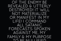 Prayer against the enemy