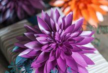 Pappersblommor paper flowers