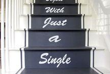 stair vinyl words