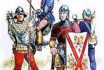 Armees medievales / les soldats, chevaliers et équipements au moyen age