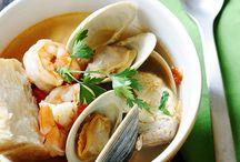 halibut and shellfish soup