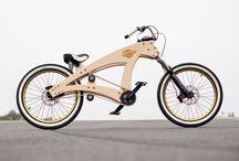 bici en madera