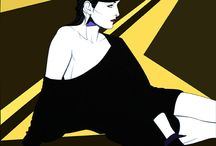 Fashion illustrations by Patrick Nagel