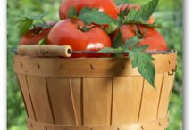 VEGETABLES ~ Just Tomatoes / It's difficult to think anything but pleasant thoughts while eating a homegrown tomato. ~ Lewis Grizzard