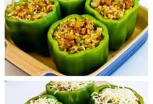 Stuffed green pepers