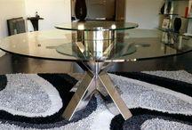 table inox poli miroir