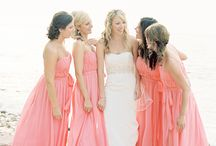Coral Bridesmaid Dresses / A collection of coral bridesmaid dresses for your coral wedding!