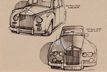 Car Drawings / Hand Sketches
