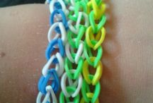 loom bands / All of these I did on my own so please like and pin them