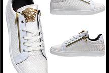 Heren Python Sneakers Wit