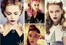 lila&pin up hair