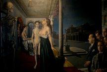 ポール・デルヴォー「バラ色の蝶結び」(1937年)