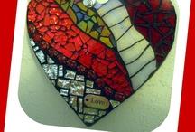 mozaikové srdce