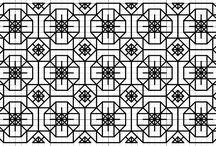 Geometrisch Borduurpatroon