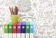 Colour-in wallpaper