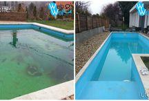 Pool Szaki  / Előtte - Utána / Elhanyagolt vagy algás medencék helyrehozatala vízcsere nélkül!