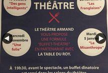 Soirées à thème / Soirée à thème de type, resto + ciné, buffet + théâtre, soirée littéraire...