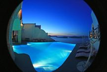 Santorini Hotels / by Poema Weddings Santorini Event Specialists Event Specialists