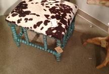 Uttermost Furniture / Cowhide footstool