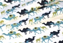 Animal print fabric designs / A board of organic and eco friendly fabrics with prints of Animals on them