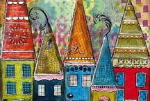 Whimsical Houses for Your Art Journal